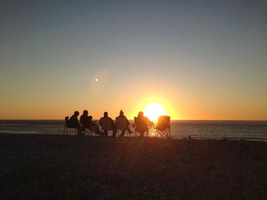 Cape Range Nationalpark, unser Stammplatz zum Sonnenuntergang
