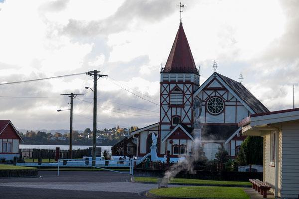 Ein traditionelles Maori Dorf