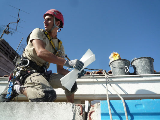 entablement accès difficile toiture Hérault accro geko