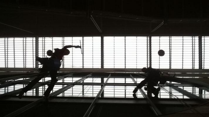 vitre en hauteur Montpellier acro gecko accès sur corde