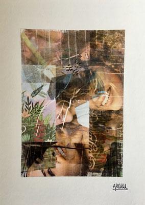 Collage sur papier Hahnemühle A4, 265g-2018-60€.(20)