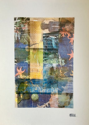 Collage sur papier A3, 300g-2018-90€. (14)