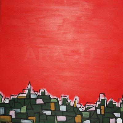 Le poids du vide, acrylique sur toile, 70x70cm, 2011, 210€. (15)