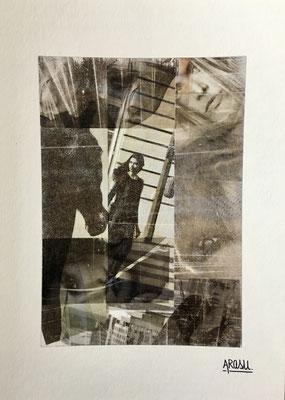 Collage sur papier Hahnemühle A4, 265g-2018-60€.(19)