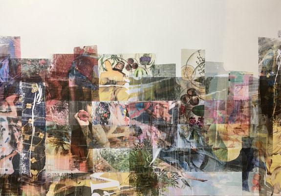Collage sur papier Canson 200g, A2 (42 x 59,4 cm)-2020-100€. (26)