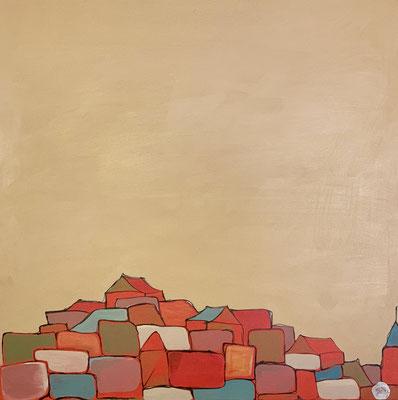Sky has no limit, acrylique sur toile, 90x90 cm, 2011, 300€. (20 bis)