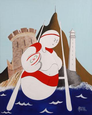 Kiñu rugby Biarritz Olympique, acrylique sur toile, 50x40cm, 85€.  (7)