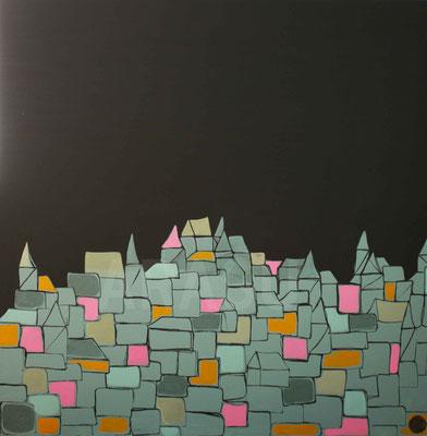 De la nuit nait le jour, acrylique sur toile, 100x100cm, 2011, 340€  (16)