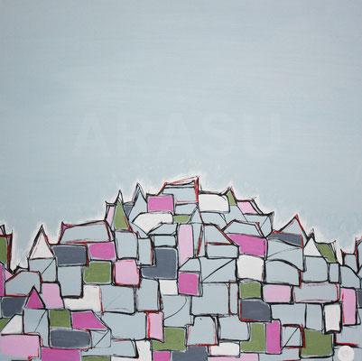 Border, acrylique sur toile, 70x70cm, 2011, 210€. (14)