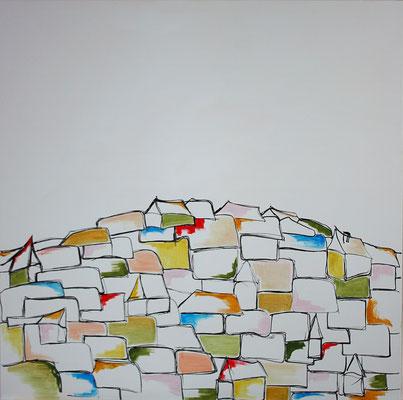 Acrylique sur toile, 90x90cm, 2011, Non disponible.  (17)