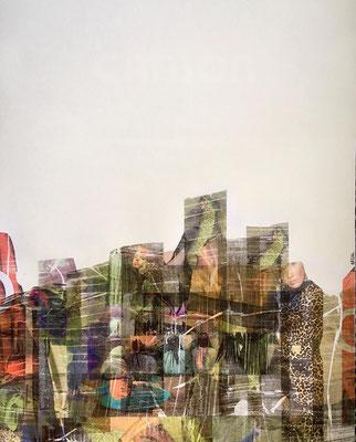 Urban jungle, collage sur papier Canson 200g, A2 (59,4 x 42 cm)-2019-100€. (24)