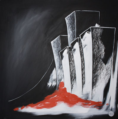 Acrylique sur toile,100x100cm, 2011, 425€. (24)