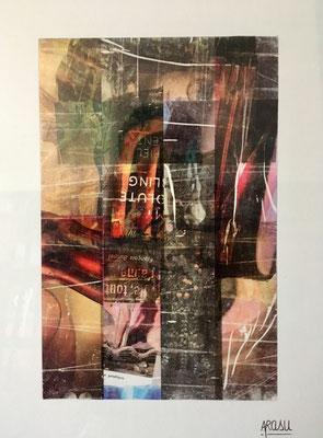 Libertine, collage sur papier A3, 300g-2018-90€. (21)