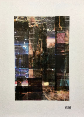 Collage sur papier A3, 300g-2018-90€. (5)