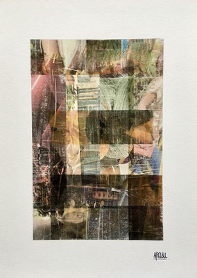 Collage sur papier A3, 300g-2018-90€. (6)