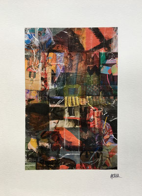 Collage sur papier A3, 300g-2018-90€.  (3)