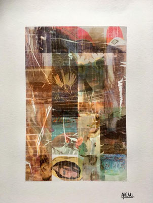 Collage sur papier A3, 300g-2018-90€. (10)