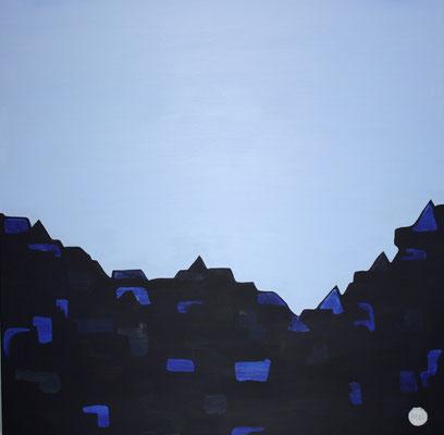 Acrylique sur toile, 100x100cm, 2011, Non disponible. (19)