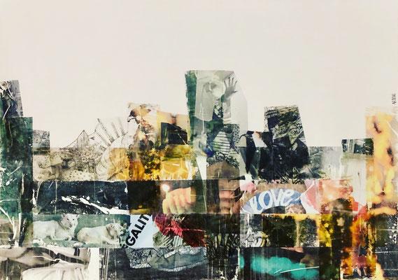 Collage sur papier Canson 200g, A2 (42 x 59,4 cm)-2019-100€.-Non disponible (25)