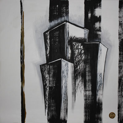 Acrylique sur toile, 80x80cm, 2011, Non disponible. (25)