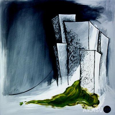 Acrylique sur toile, 70x70cm, 2011, Non disponible. (22)