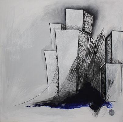 Acrylique sur toile, 90X90cm, 2011, Non disponible. (21)