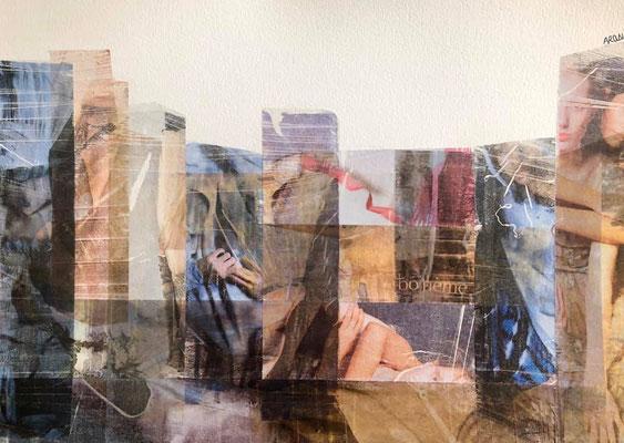 Collage sur papier Canson 200g, A3-2020-90€. (27)