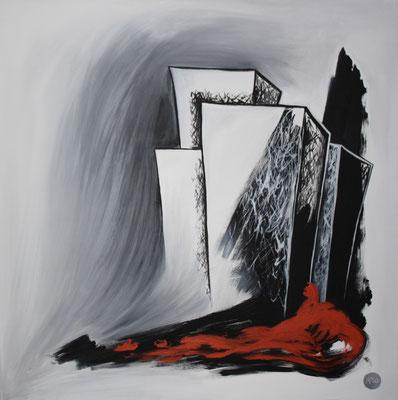 Acrylique sur toile, 100x100cm, 2011, 425€. (23)