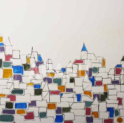 Acrylique sur toile, 90x90cm, 2011, 340€. (20)