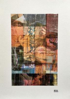 Terracotta, collage sur papier A3, 300g-2018-90€. (7)