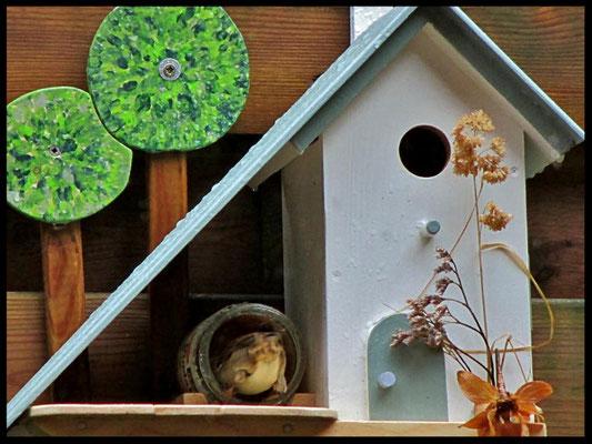 Houten Nestkastje voor Pindakaas pot, Nestkastje, Huisje bezet, Vogelhuisje bouwen, vogelhuisje pindakaas pot_2