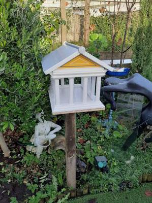 Vogelvoederhuis Acropolis kleine vogels vogelhuisje houten Grieks_8