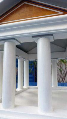 Vogelvoederhuis Acropolis kleine vogels vogelhuisje houten Grieks_4