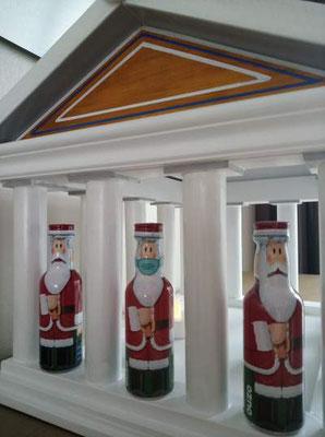 Vogelvoederhuis Acropolis kleine vogels vogelhuisje houten Grieks_9