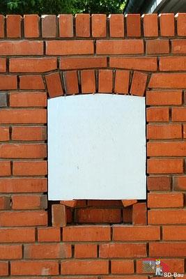 Fensterbogen Außenmauer