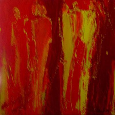 """Nr. 22  / """"Schaufenster"""" /  50 cm x 50 cm /  Acryl auf Leinwand"""