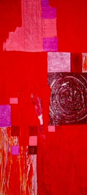 "Nr. 398 / ""Im rosaroten Licht1"" /  50 cm x 100 cm / Acryl auf Leinwand"