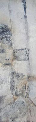 """Nr. 139 / """"Der Blick...."""" /  35 cm x 110cm  / Acryl auf Holzplatte"""