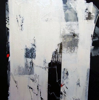 """Nr. 417 / """"Gedankenblitz"""" / 100 cm x 100 cm / Acryl auf Leinwand"""