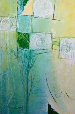 """Nr. 149 / """"Zwiespalt"""" / 70 cm x 100 cm /  Acryl auf Leinwand mit Alu-Schattenfugenrahmen"""