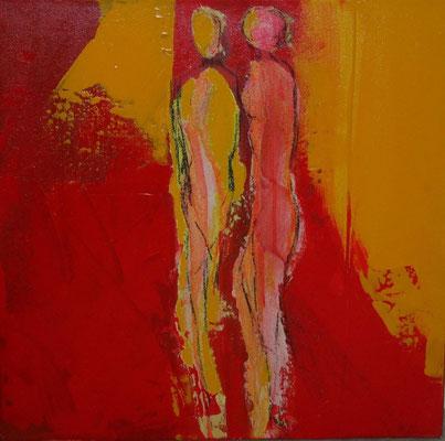 """Nr. 21 """"Glücksgefühl"""" /  50 cm x 50 cm / Acryl auf Leinwand"""