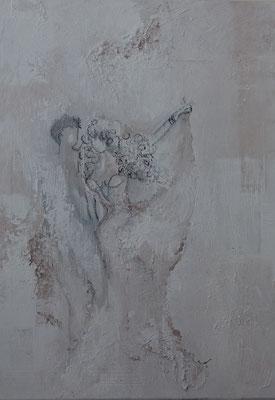 """Nr. 824/ """"Der letzte Tanz""""/ 50 cm x 70 cm/ Acryl-Mischtechnik auf Leinwand / 2019"""