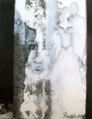 """Nr. 438 / """"Zusammen I"""" /  40 cm x 50 cm / Acryl auf Leinwand"""