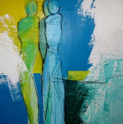 Nr. 261 / o.T. / 50 cm x 50 cm / Acryl auf Leinwand