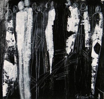 """Nr. 343 /  """"Am Abend"""" /  60 cm x 60 cm / Acryl auf Leinwand"""