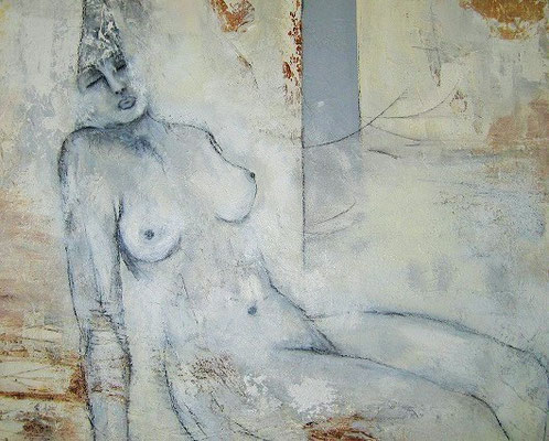 Nr. 568 / o.T. /  100 cm x 80 cm / Acryl-Mischtechnik auf Leinwand