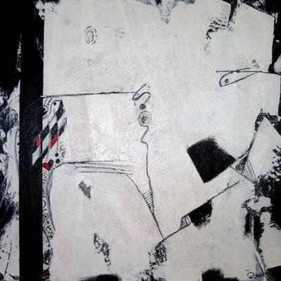 Nr. 545 / o.T./  80 cm x 80 cm / Acryl auf Leinwand