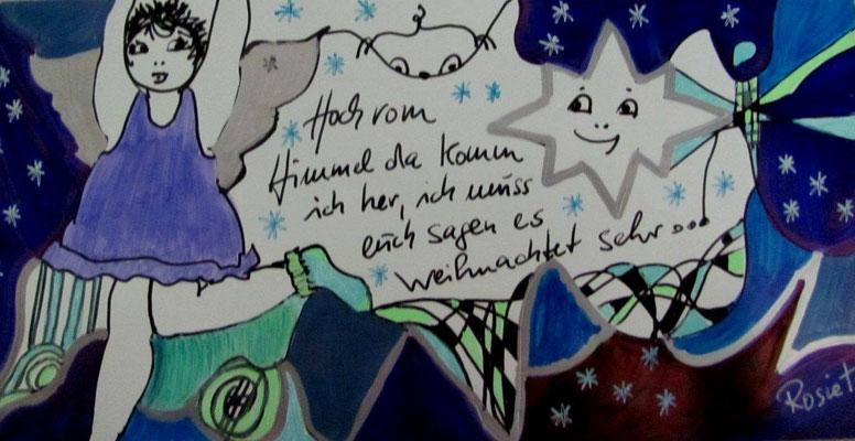 """Beispiel / Kunst-Karten  zum Anlass """"Weihnachten"""""""
