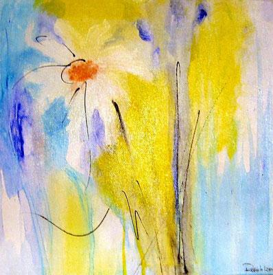 """Nr. 471 / """"Frühlingserwachen 1"""" /  40 cm x 40 cm / Acryl auf Leinwand"""