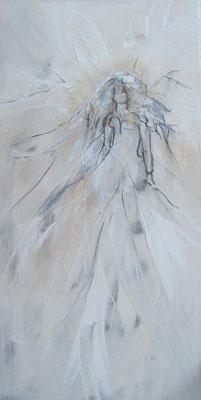 """Nr. 646 / """"Vom Winde verweht"""" /  50 cm x 100 cm / Acryl-Mischtechnik auf  Leinwand"""